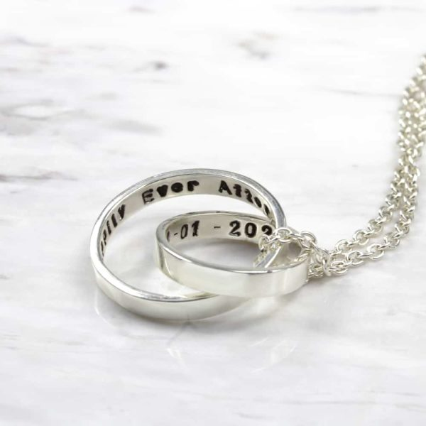 925 Sterling Silver Unity Secret Message Necklace