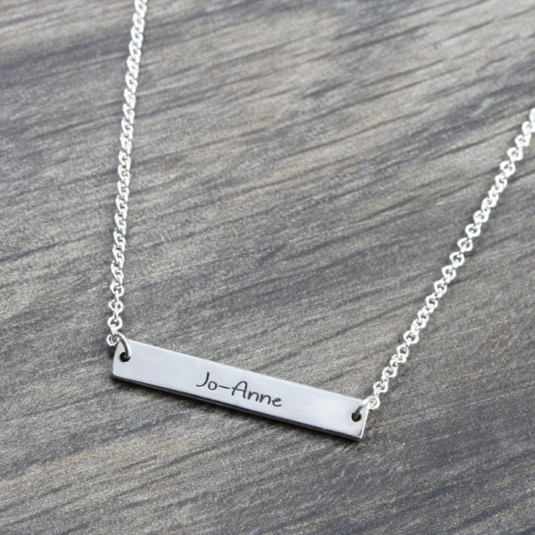 Personalised Necklace Wide Bar Necklace Silvery Jewellery South Africa