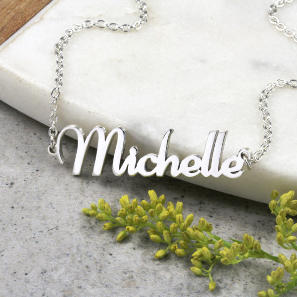 Silvery Name Necklace