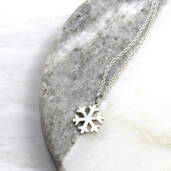 Small Snowflake Necklace Silvery Jewellery South Africa
