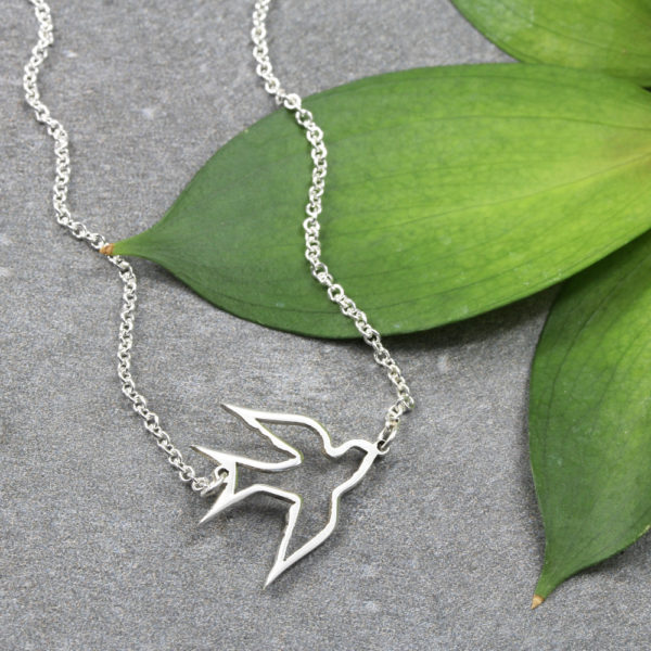 Soaring Swallow Necklace Silvery Jewellery South Africa