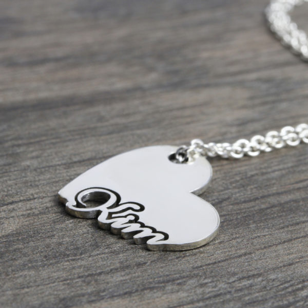 Sterling Silver Heart Name Necklace Jewellery