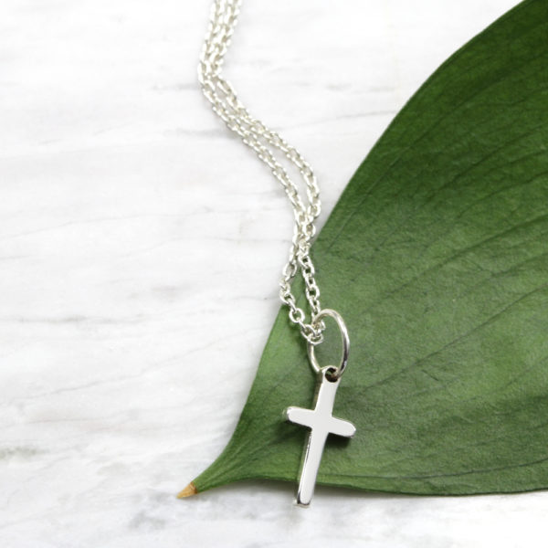 Tiny Cross Necklace Silvery Jewellery South Africa