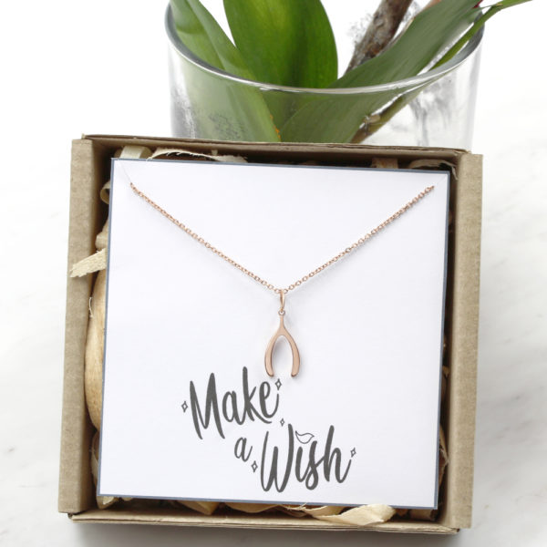 Wish Bone Necklace Silvery Jewellery South Africa