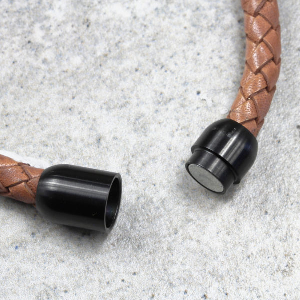 Round Braided Leather Bracelet South Africa Silvery Jewellery