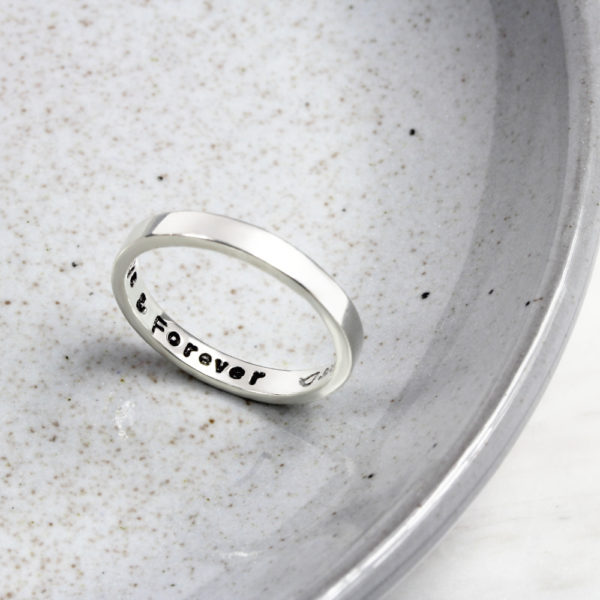 Hand Stamped Secret Message Ring by silvery jewellery south africa