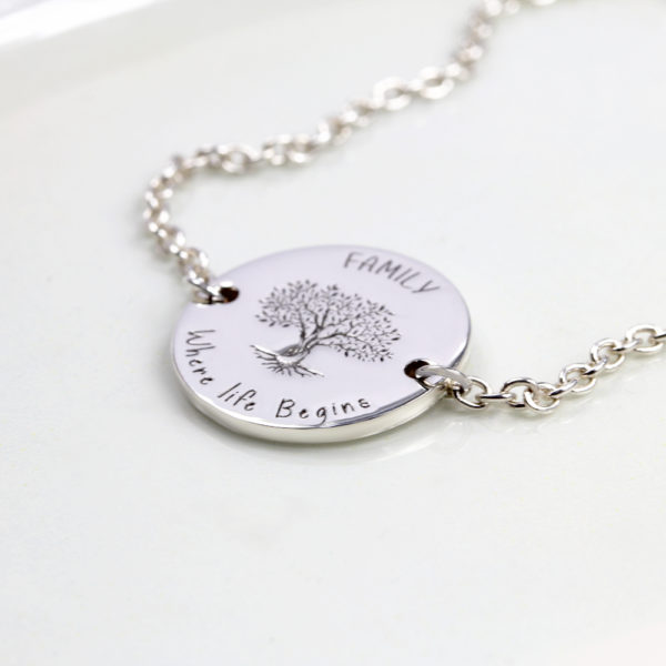 Engraved Family Tree Bracelet by Silvery Jewellery south africa