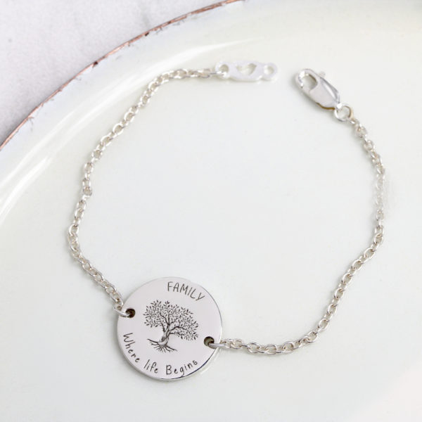 Family Tree Bracelet Personalised bracelet in south africa by Silvery jewellery