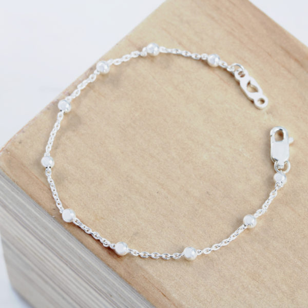 Sterling silver dewdrop bracelet by silvery jewellery south africa