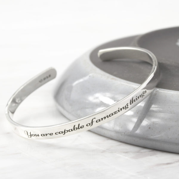 Engraved Bangle Cuff Bangle by Silvery jewellery south africa