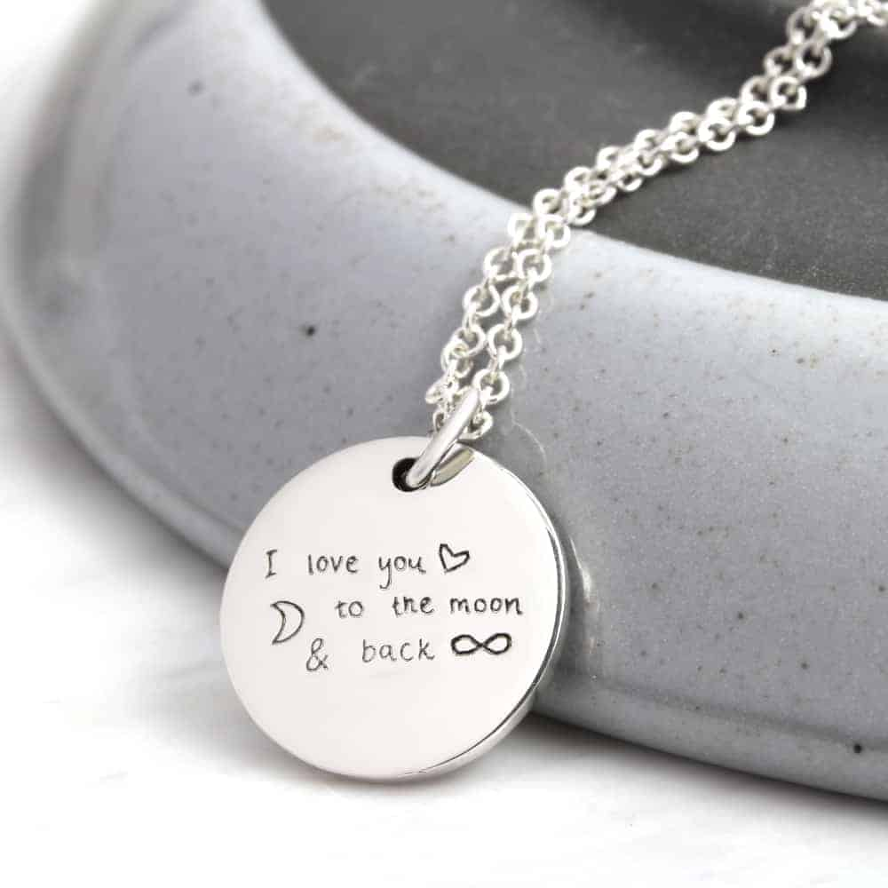 925 Personalized Hand Written Silver Necklace