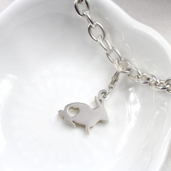 Bunny Charm Silver charms personalised charms by silvery south africa
