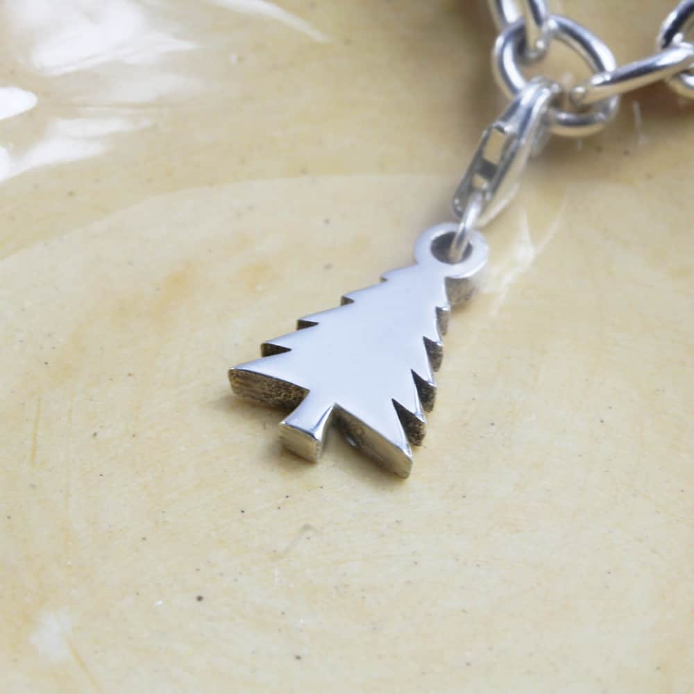Christmas Tree Charm Silver charms for bracelets by silvery south africa