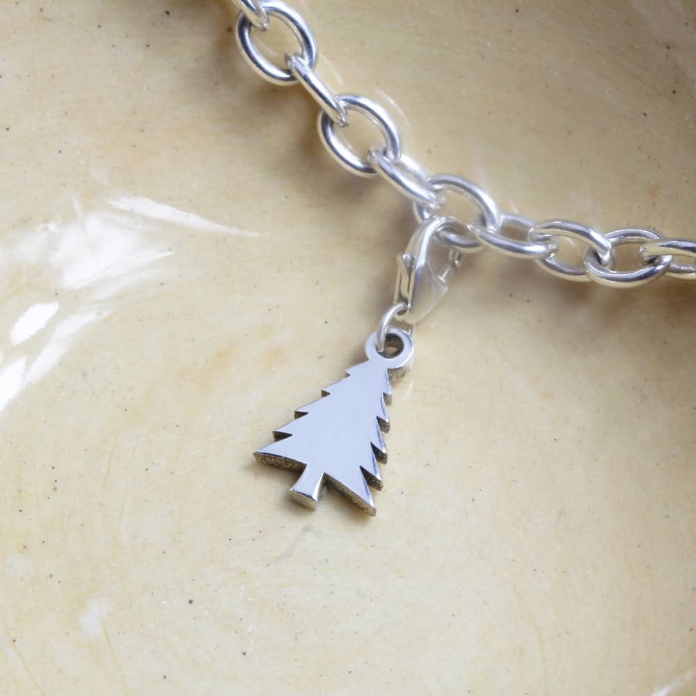 Christmas Tree Charm Silver charms personalised charms by silvery south africa