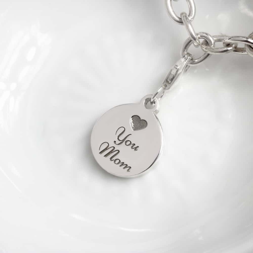 Coin Charm in 13mm by silvery jewellery in south africa personalised charms