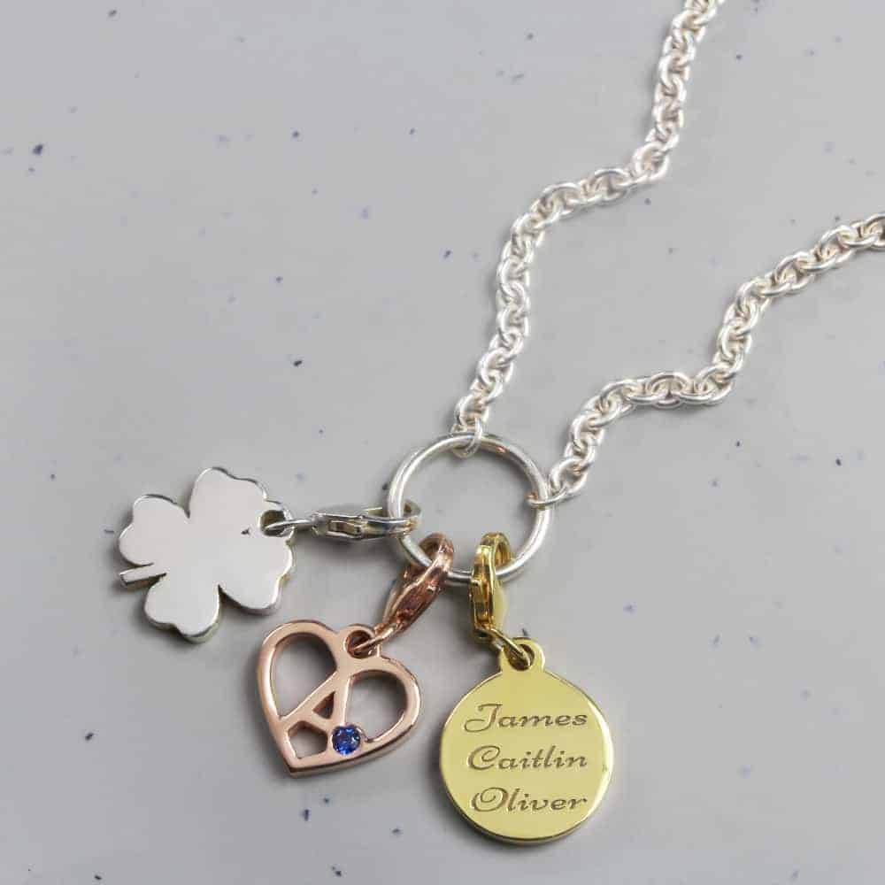 Dainty Memory Keeper Charm Necklace Silver charm necklace personalised charms by silvery south africa