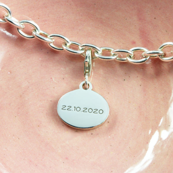 Date Charm Silver charms for bracelets by silvery south africa
