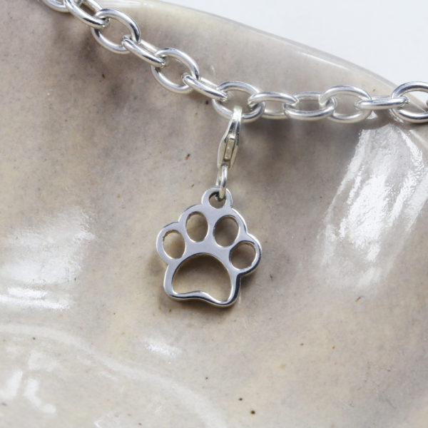 Dog Paw Charm Silver charms personalised charms by silvery south africa