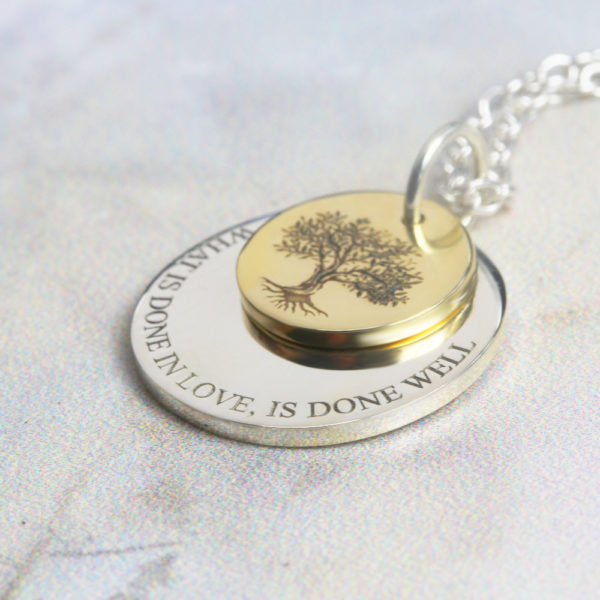 Family tree necklace 9kt gold necklace by silvery jewellery