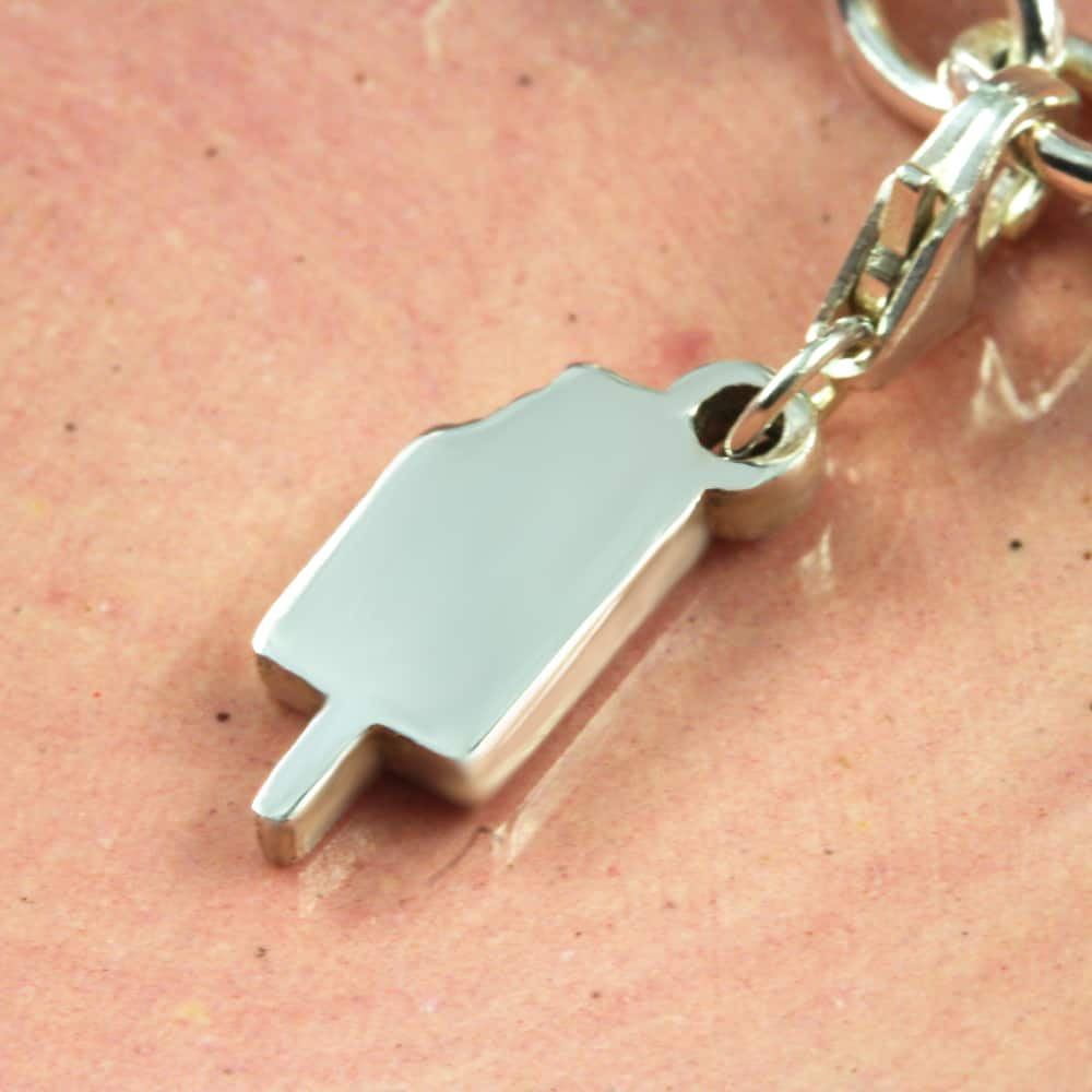 Ice Cream Charm Silver charms for bracelets by silvery south africa