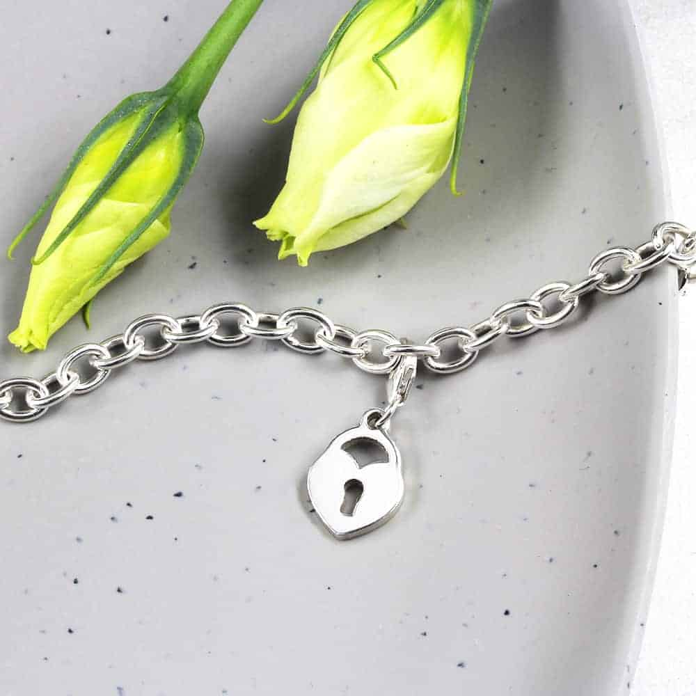 Locket Heart Charm Silver charms personalised charms by silvery south africa