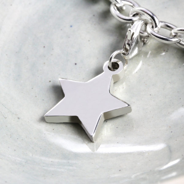 Star Charm Silver charms for bracelets by silvery south africa