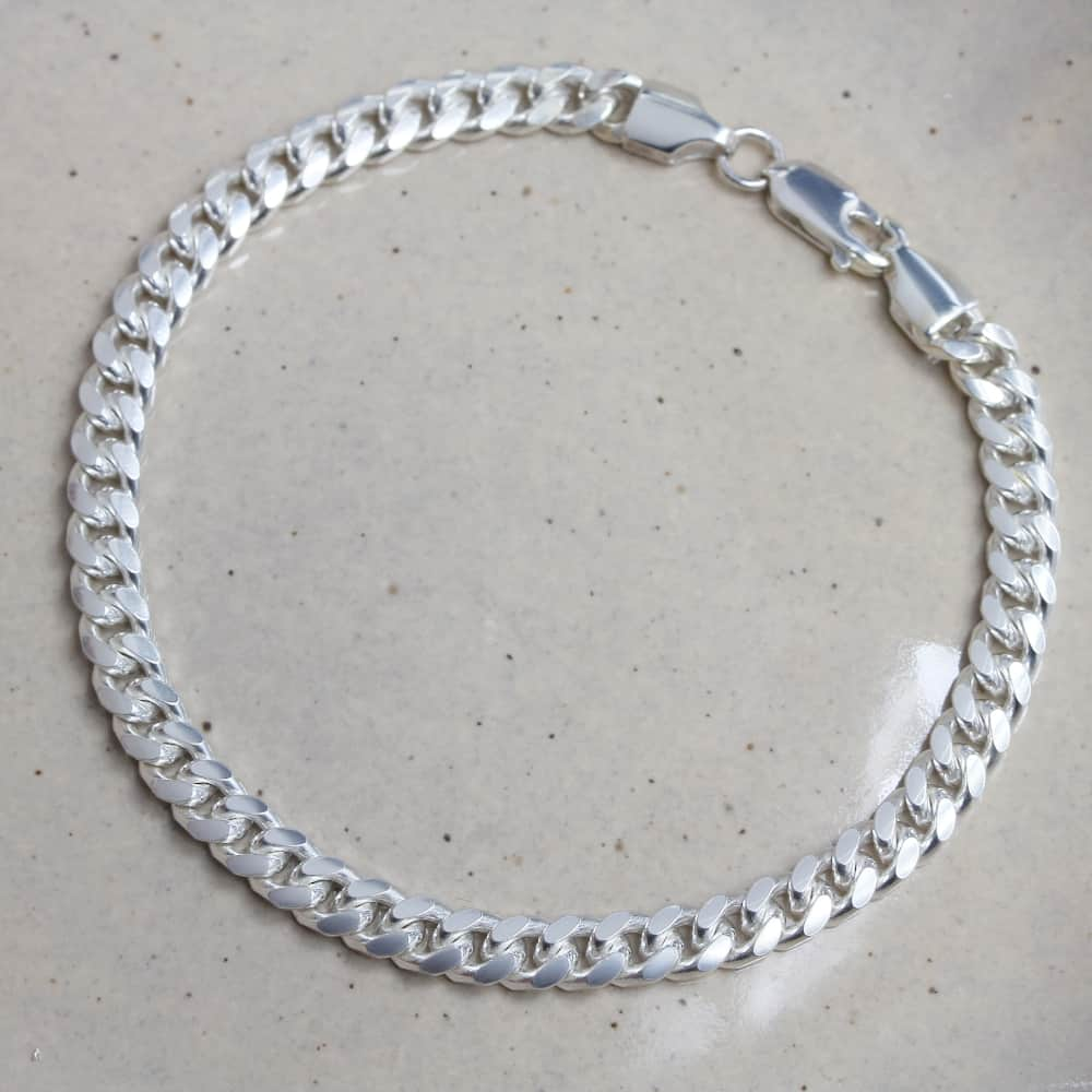Mens Sterling Silver Curb Bracelet by Silvery Jewelelry south africa