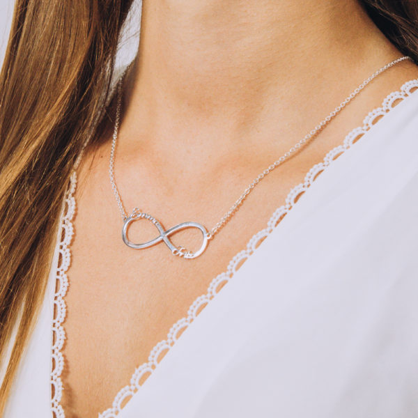 Infinity Name Necklace - Perspective Image