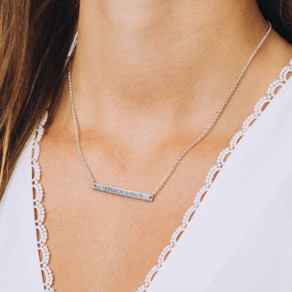 Skinny Bar Necklace - Perspective Image