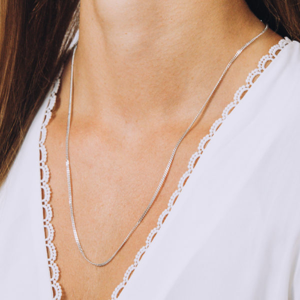 Flat Braided Necklace - Perspective Image