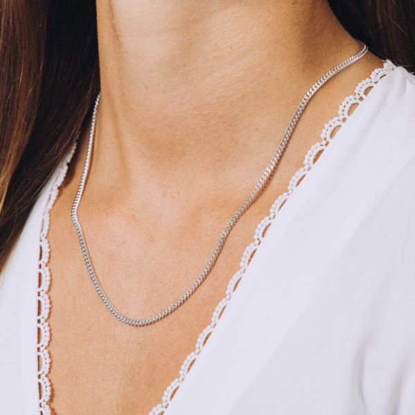 Bold Flat Braided Necklace - Perspective Image