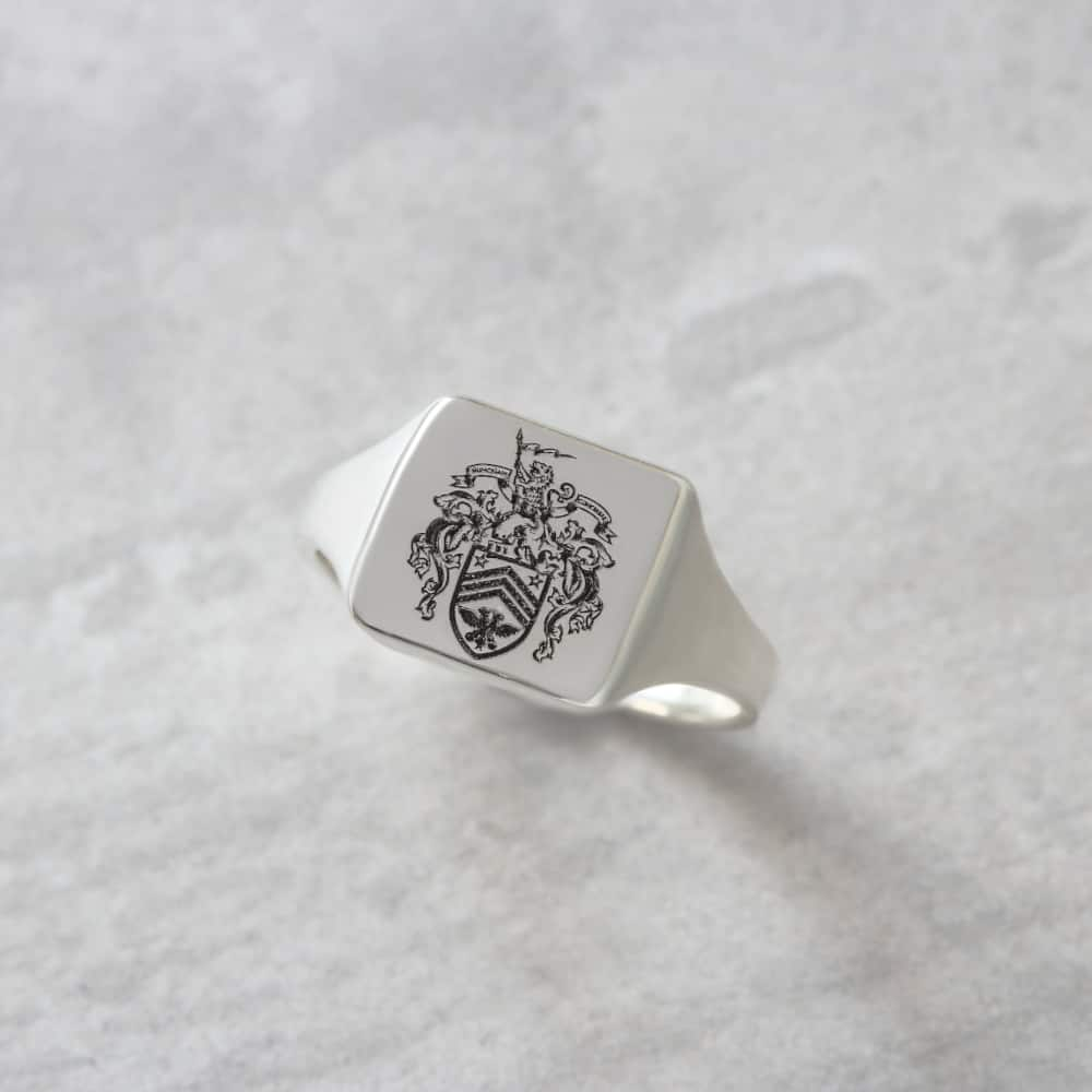 solid signet ring family crest signet ring by silvery jewellery for men.JPG